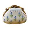 Limoges Imports Blue Bonnet Purse Limoges Box