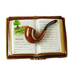 Limoges Imports Pipe On Book Limoges Box
