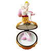 Limoges Imports Blonde Hair Ballerina W/Toe Shoes Limoges Box TO789-L