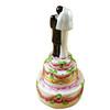 Limoges Imports Tall Bride & Groom On Cake Limoges Box