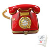 Limoges Imports Red Telephone With Letter Limoges Box