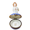 Limoges Imports Kneeling Angel Blue Base Limoges Box TR056-I