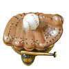Limoges Imports Baseball Glove W/Ball Limoges Box