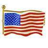 Limoges Imports United States Flag Limoges Box TT039-F