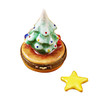 Limoges Imports Christmas Tree W/Star Limoges Box