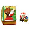 Limoges Imports Santa Book W/Santa Inside Limoges Box