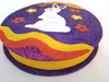 Katherine's Collection Sparkly Large Egg Shaped Bunny on Purple Big Candy Box (28-28531PURPLEBUNNY)
