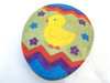 Katherine's Collection Sparkly Large Egg Shaped Duck on Green Big Candy Box