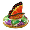 BUTTERFLY ON GRAPES Limoges Box RA325