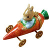 Rochard RABBIT IN CARROT CAR Limoges Box RA326-L