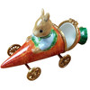 RABBIT IN CARROT CAR Limoges Box RA326-L