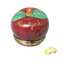 I LOVE NEW YORK APPLE WITH REMOVABLE TAXI Limoges Box RT273