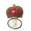 I LOVE NEW YI LOVE NEW YORK APPLE WITH REMOVABLE TAXI Limoges Box ORK APPLE WITH REMOVABLE TAXI Limoges Box
