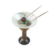 MARTINI GLASS WITH OLIVES Limoges Box