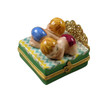 Rochard Twin Bed with 1 Baby Girl/Boy Limoges Box RB104GB-M