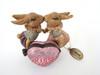 Katherine's Collection Bunny Rabbits KISS ME heart hinged box