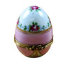 Pink Egg with Flowers Rochard Limoges Box