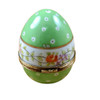 Green Egg with Flowers Limoges Box RE253-D