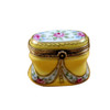Tall Yellow Oval with Flowers Rochard Limoges Box