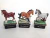 HB Horse Series Set/3 Porcelain Hinged Boxes
