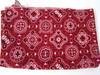 Red Bandana Print Fabric