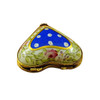 Blue Heart with Flowers Limoges Box - RH242