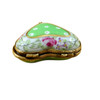 Green Heart with Flowers Limoges Box - RH243