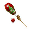 Red Rose with Gold Stem Limoges Box RY100