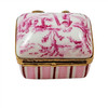 Pink Toile Limoges Box RE258
