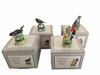 PHB Midwest of Cannon Falls Hinged Boxes - SONG BIRD SERIES Set of 4