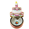 Birthday Cake W/Pink Candle - '39 Again' Rochard Limoges Box