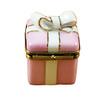 Pink Gift Wrapped Box W/Gold Ribbon Rochard Limoges Box