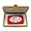 Gift Box With Red Bow - Happy Valentine'S Day Rochard Limoges Box RO180-H