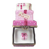 Pink Birthday Cake With Present Rochard Limoges Box