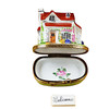 House/Cottage With Welcome Plaque Rochard Limoges Box
