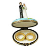 Bride And Groom With 2 Removable Rings Rochard Limoges Box