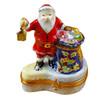Santa W/Lantern & Gifts Rochard Limoges Box