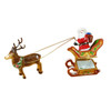 Santa In Sleigh W/Reindeer Rochard Limoges Box