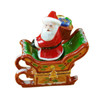 Santa In Sleigh W/Reindeer Limoges Box