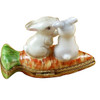 Rabbits On Carrot Rochard Limoges Box