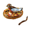 Robin With Removable Worm Rochard Limoges Box