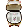 Mother Rabbit Rocking W/Baby Rochard Limoges Box