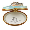 Hippo With Baby In Water Rochard Limoges Box