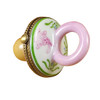 Rochard PACIFIER W/RABBITS PINK Limoges Box RB003-G