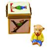 Block With Bear Rochard Limoges Box