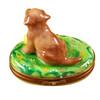 Chocolate Labrador Rochard Limoges Box