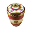 Burgundy Urn With Gold Handle Rochard Limoges Box
