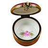 Burgundy Round With Flowers Rochard Limoges Box