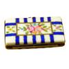 Flat Rectangle W/Blue Stripes Rochard Limoges Box
