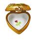 Heart - Gold Rose Rochard Limoges Box